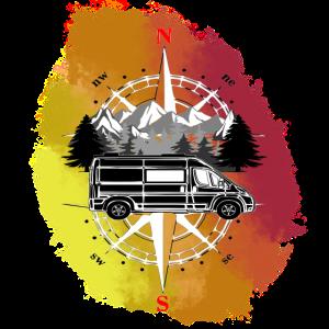 Wohnmobil Reiseträume bunt wie das Leben