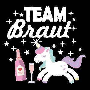 Team Braut Einhorn junggesellin Geschenk