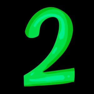 Ziffer 2 in grün