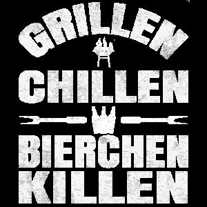 Grillen Chillen Bierchen Killen Grillgeschenk
