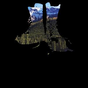 Bergschuhe Bergpanorama Bergwandern Sportwandern