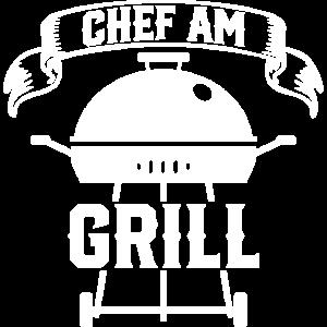 Chef am Grill Grillen Grillmeister Geschenk