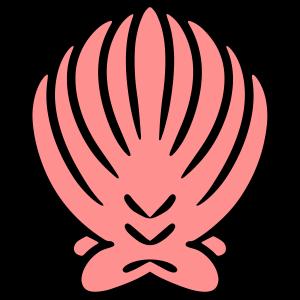 Bunte Muschel Meer Symbol Schmuck