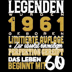 61 Jahrgang 60te Geburtstag Geschenk