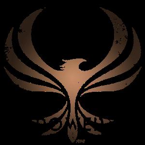PHOENIX POWER gold, Retro Design, Ringe