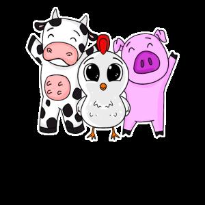 Niedliche Bauernhof Tiere
