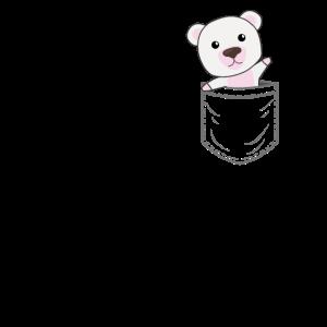 Eisbär Bärchen Bären Eisbären Aktis Brusttasche