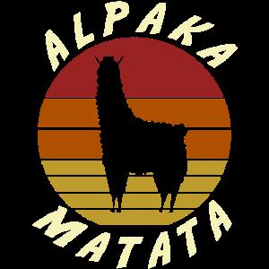 Alpaka Matata Hakuna Lama Spruch Logo Geburtstag