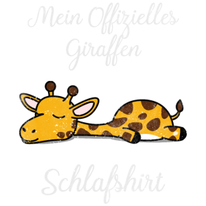 Giraffe Schlafshirt Geschenk Geburtstag