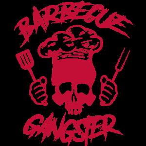 Barbecue Gangster Totenkopf BBQ Koch Grillen