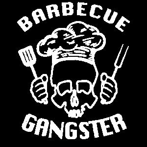BBQ Koch Barbecue Gangster Totenkopf Sommer