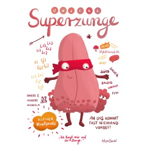 Superzunge *Anatomy Cartoon Art*