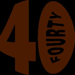 40 vierzig Geburtstag