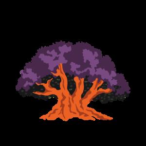 Orlando Vergnügungspark Baum-Ikone - Halloween