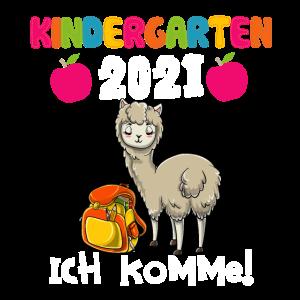 Kindergarten 2021 Ich Komme! Alpaka Lama