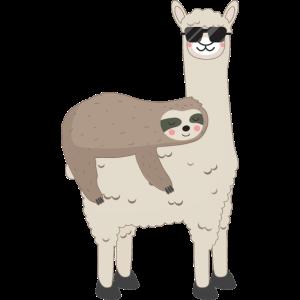 Lama und Faultier - Lustiges Alpaka Sloth Geschenk