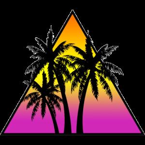 Palmen im Dreieck bunt