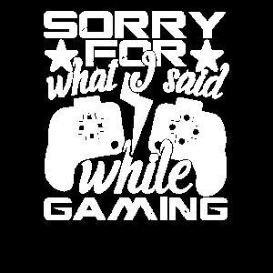 Gaming Videospiele Gamen Zocker Gamer Sorry