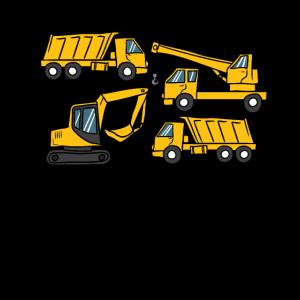 Baufahrzeuge Design LKW Kran Bagger für Kinder