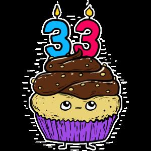 Lustiges Geburtstagsgeschenk für einen 33 Jahre