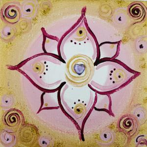 Seelenkraftbild rose gold