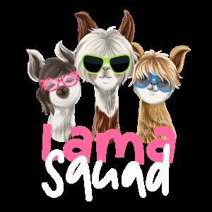 Lama Squad Alpaka Partner Team Gruppen Partnerlook