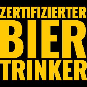 Zertifizierter Bier Trinker Alkohol Komasaufen
