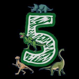 Endlich 5 Geburtstag mit Dinosaurier für Kinder