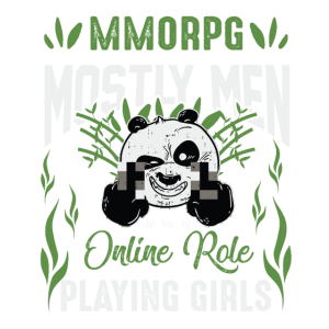 MMORPG Procrastination Nerdy Gamer Panda Design
