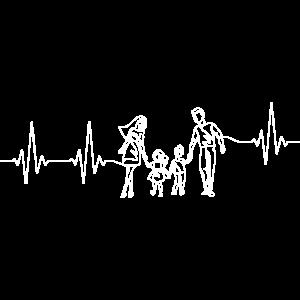 Familienglück Familie Herzschlag Mutter Vater Kind