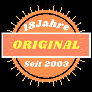 Original seit 2003 Achtzehn, Geburtstag! Fun