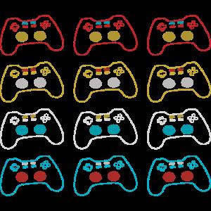 Verschiedene farben Gamepads
