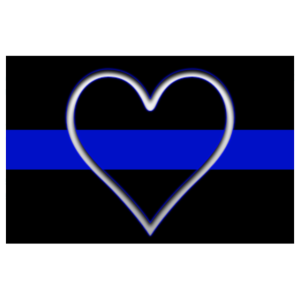 Polizei Dünne blaue Linie
