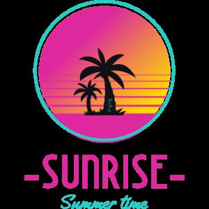 sunrise summer time Sonnenuntergang Palme