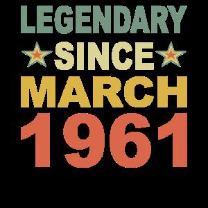 Legendär seit März 1961 Geburtstag Geschenk