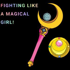 Sailor Moon Fighting wie ein magisches Mädchen