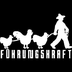 Führungskraft hühner Landwirt Hühnerbauer