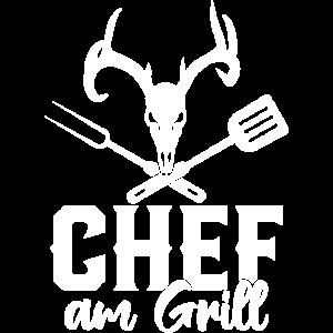 Chef am Grill Grillmeister Grillen Geschenk