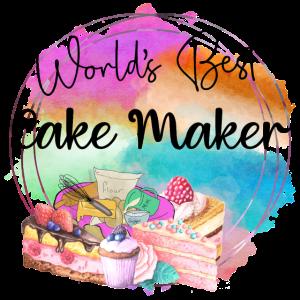 Weltbester Kuchen Bäcker Bunte Kuchen Geschenk