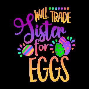 Will Handel Schwester für EierLustige Ostergeschenk für