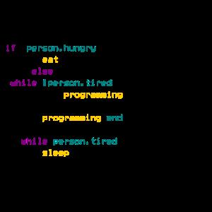 Essen Schlafen Programmieren Programmiersprache