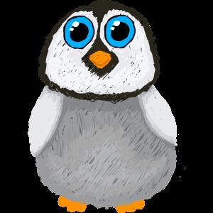 Flauschiger Pinguin