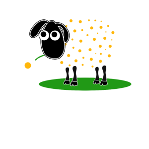 Süßes Schaf mit Blume