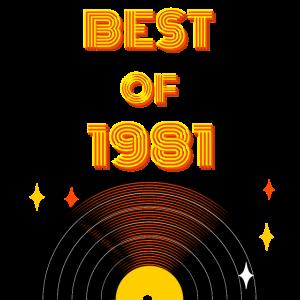 Geburtstag 40 Jahre Best of 1981 Jubiläum