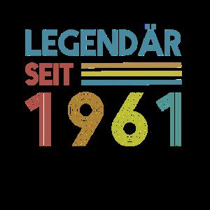 60. Geburtstag Legendär Seit 1961 Vintage Geschenk