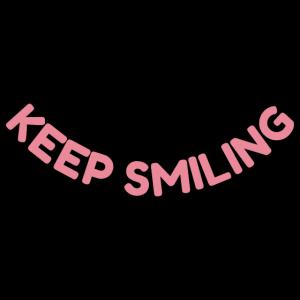 Halten Sie lächeln - inspirierende Zitat in rosa