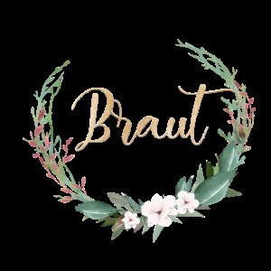 Team Bride Kreis Blumen Blätter personalisierbar