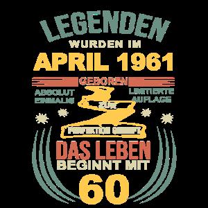 60 Geburtstag Herren Damen April 1961 60ter