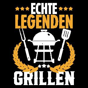Grillen Lustiges Grillmeister Grillen Grill Gesche