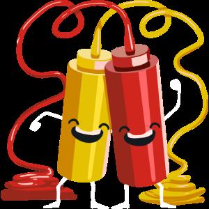 Ketchup & Senf Geschenk für einen Grill Chef